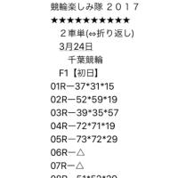 3/24 千葉競輪 F1 初日
