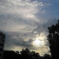 三重県庁前からの黄昏時