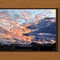 前の畑からの西の空<午後5時25分>