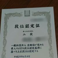 平成29年 二段位認定試験を受けました。