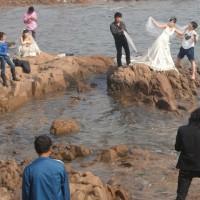 黄砂/結婚式の前撮り写真