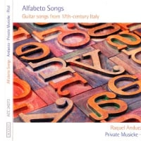CD『Alfabeto Songs - Guitar songs from 17th-century Italy』Accent-ACC24273