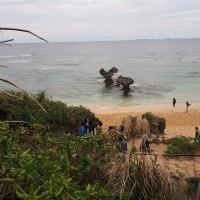 宇古利島のハート岩
