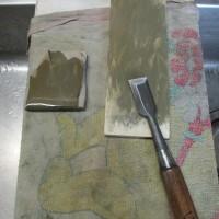 刃物を研いで十一面観音を彫る