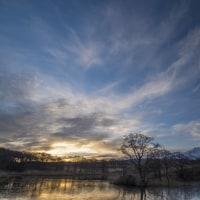 鳥海山のある風景(冬師湿原)