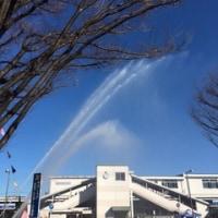 澄みきった青空の下で出初式が行われました💛 平成29年1月11日