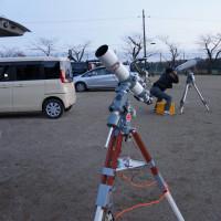 穏やかな日の星空観察会