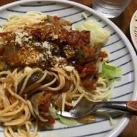 25日昼は  なすスパゲティ