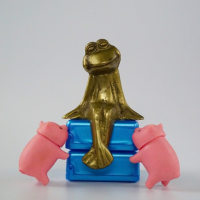 カエルさんと子ブタちゃん(frog and pigs)