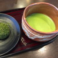 茶葉おはぎ と 抹茶