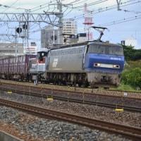 EF200牽引ムド(DE10)付きの2077レを夙川で