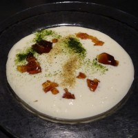 エスプーマ濃厚ふわふわクリーム豆腐ポン酢ジュレ添えin暖厨