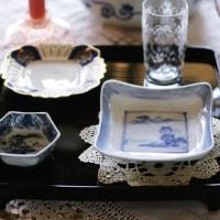 ブルー&ホワイトのテーブル・スタイリング