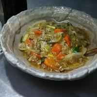 野菜が残ってきたので、またまたマルタイの皿うどん。