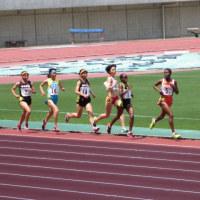 女子3000m決勝の応援
