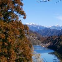 雪の綱附森と白髪山を望む (17-223)