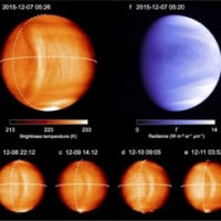 「あかつき」、金星に巨大な弓状構造を観測