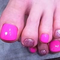 ☆ピンクカラー フット☆