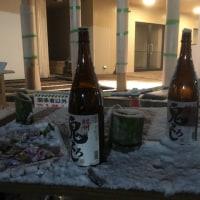 近江奇祭:火祭りは雪の中