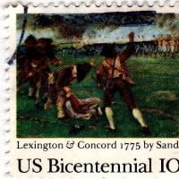 レキシントン・コンコードの戦いの切手