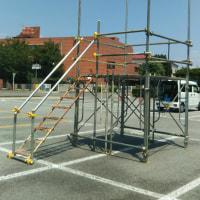 櫓の組み立て