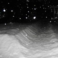 平成29年1月23日・夜明け前の東祖谷は積雪50~70cm前後
