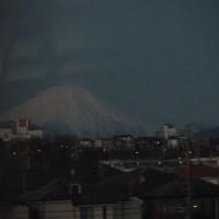 2017年1月23日,今朝の富士山