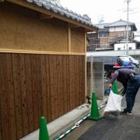 倉敷市内の門塀改築現場での物語もいよいよ終盤