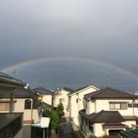 虹がでました