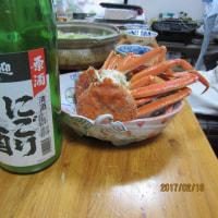 東京到着 早速、「カニ鍋&にごり酒」を食す