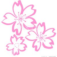 ○筆文字デザイン処こんにち和○2.10セレクト☆「墨絵 桜」筆文字デザイン