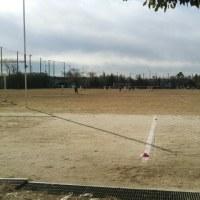 サッカー練習試合観戦