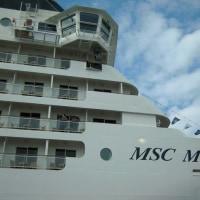 MSCーMUSICAの船首
