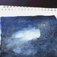 水彩画の事。続きです。「聖夜」