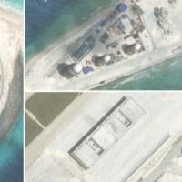 南沙の中国人工島、軍事施設は完成間近 レーダーや格納庫も