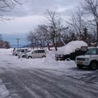 たっぷり雪の大山