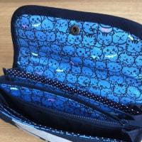 藍染めの長財布