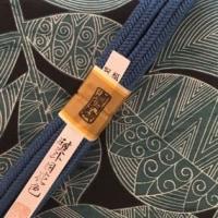 牛首紬の袋帯と衿秀さんの帯揚げ&道明さんの帯締め