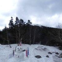 蓼科山荘より さくらフェアのお食事・子どもの日の雪だるま