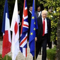 ◯ G7 に初参加したトランプ米大統領。閉幕後の記者会見も開かず