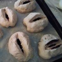 ブルーベリーの酵母パン