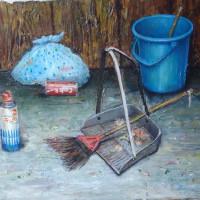 油絵展、晩秋・静寂。生きる