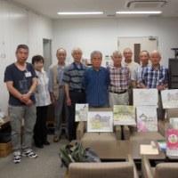 6月 9日(金) 水彩画サークルが旧古河庭園経由 OBサロンで写生会
