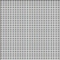 たくさんの「酉」の字で「酉」の字を描く年賀状の作り方