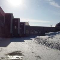 旧校舎(現増毛小学校)を訪問しました