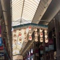 寺町通に祇園祭の提灯がついた