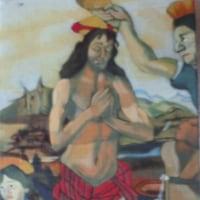模写「キリストの洗礼」「フランドル風景」