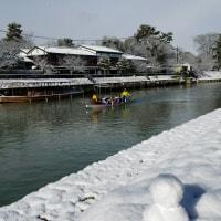 0115  大雪の宇治川練習