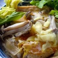 卵の都合で丼/沖縄蕎麦