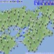 7月24日 アメダスと天気図。